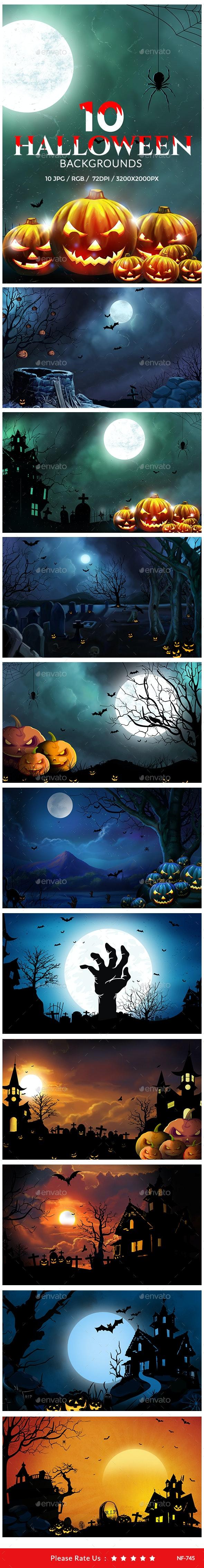 10 Halloween Backgrounds - Backgrounds Graphics