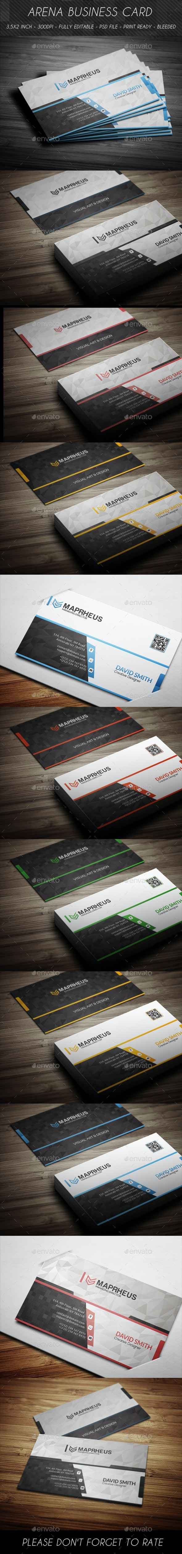 Arena Business Card - Corporate Business Cards