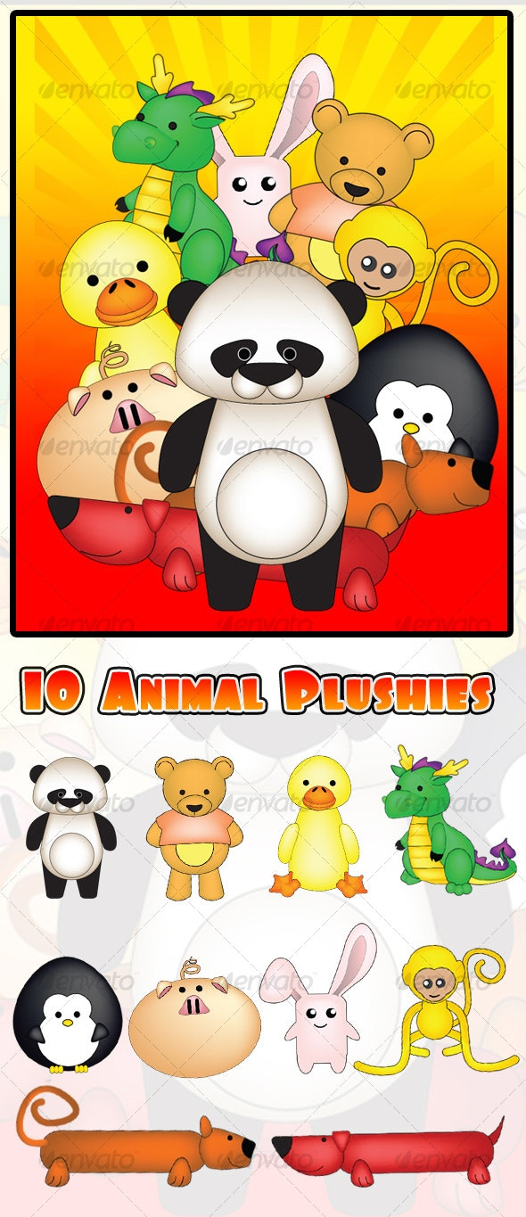 Animal Mascot -  Plushies - Characters Vectors