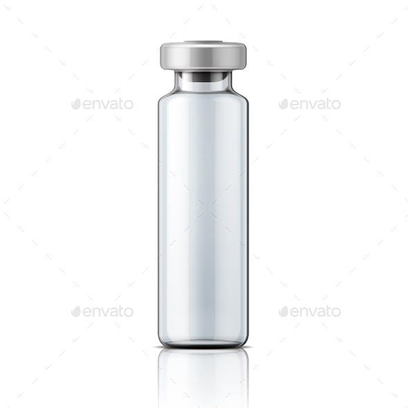 Glass Medical Ampule with Aluminium Cap
