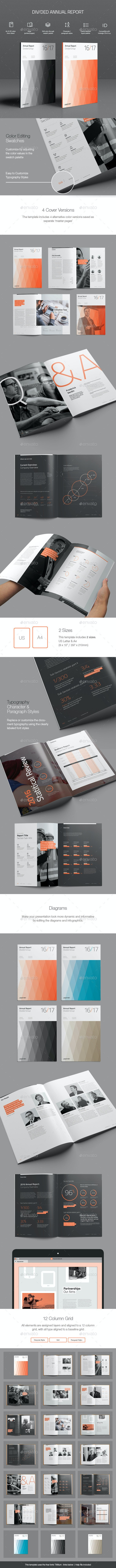 Divided Annual Report Template - Informational Brochures