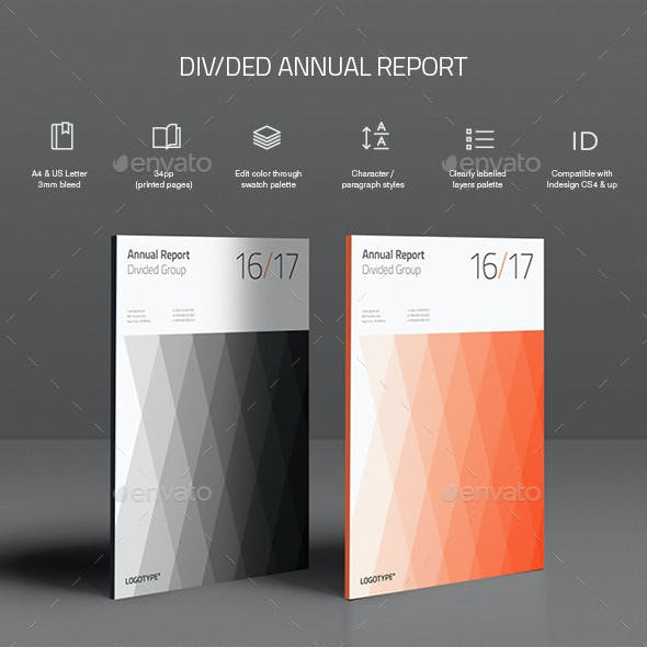 Divided Annual Report Template