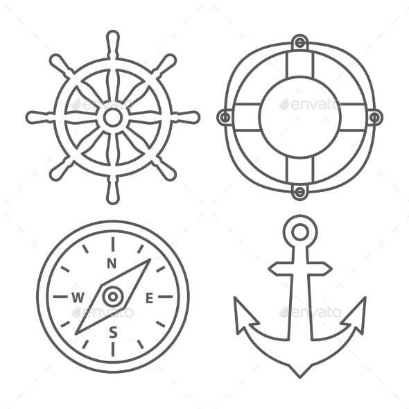 Marine Line Icons