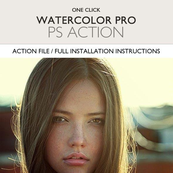 Watercolor Pro Photoshop Action