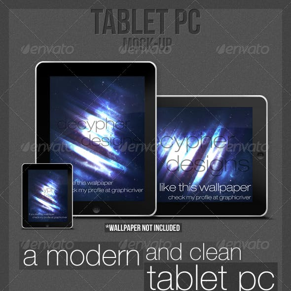 Tablet PC - PSD/PNG (Mock-up)