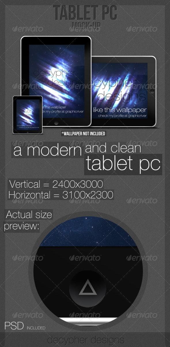Tablet PC - PSD/PNG (Mock-up) - Multiple Displays