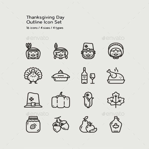 16 Thanksgiving Day Icons