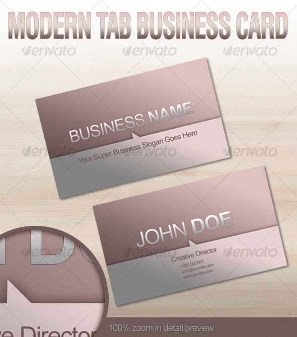 Modern Tab Business Card - Creative Business Cards