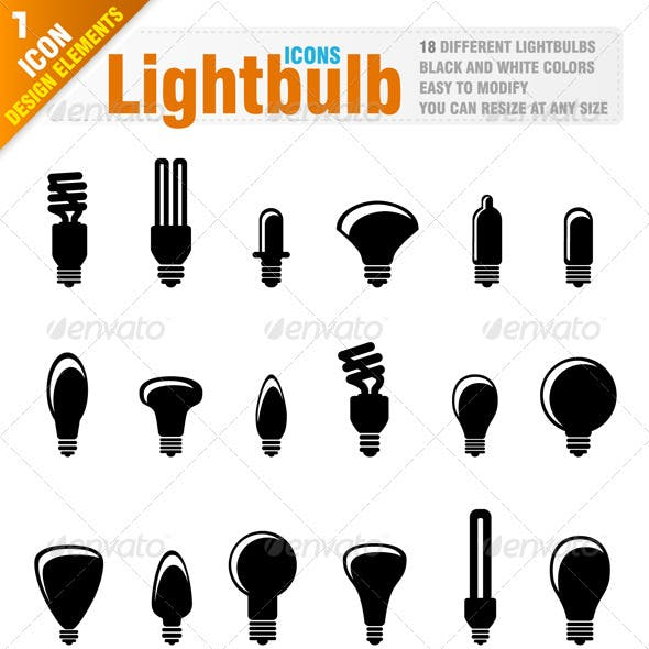 18 Lightbulb icons