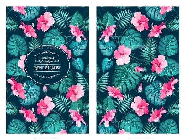 Tropical Flower Pattern - Flowers & Plants Nature