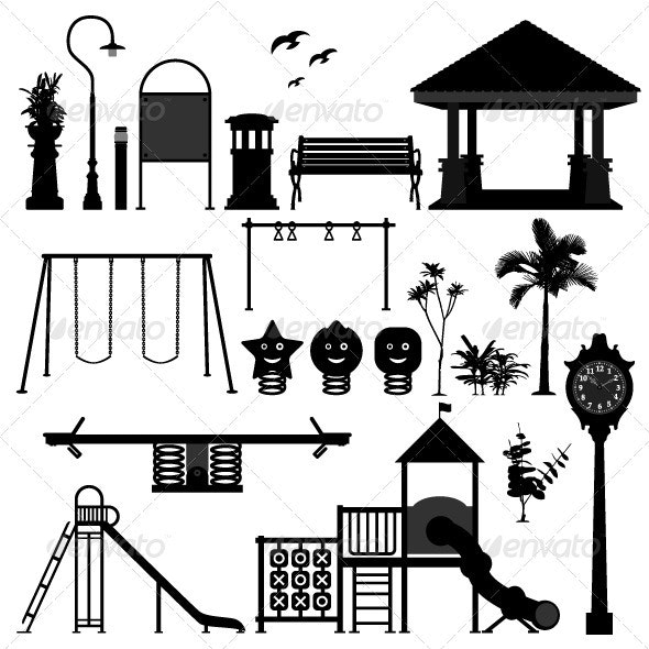 Playground Park Garden Equipment - Man-made Objects Objects