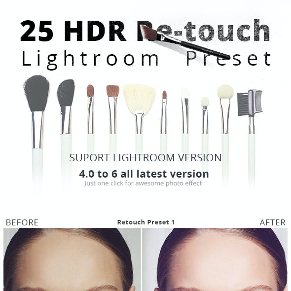 25 HDR Retouch Preset