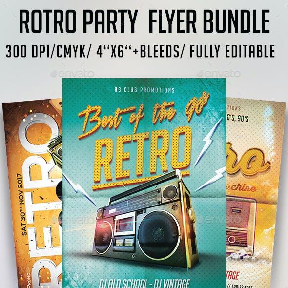 Retro Party Flyer Bundle