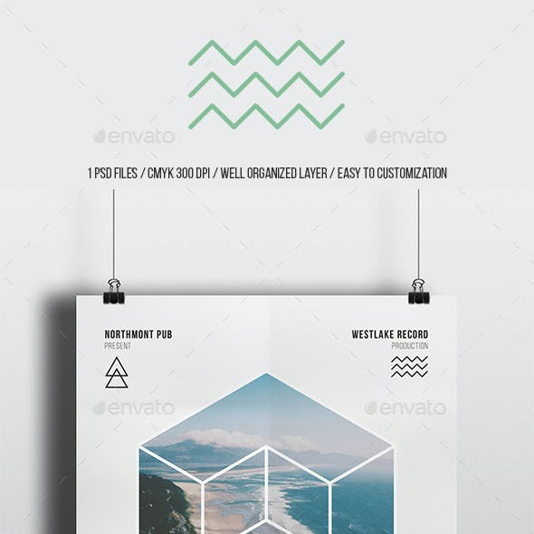 Geometric Gig Minimal Flyer