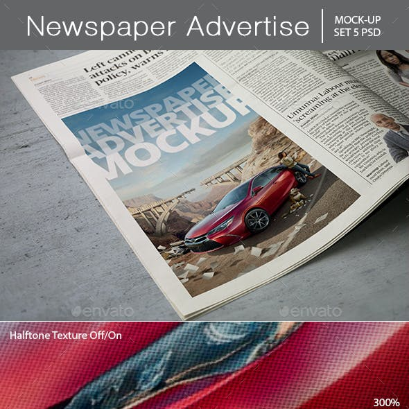 Newspaper Advertise Mockup