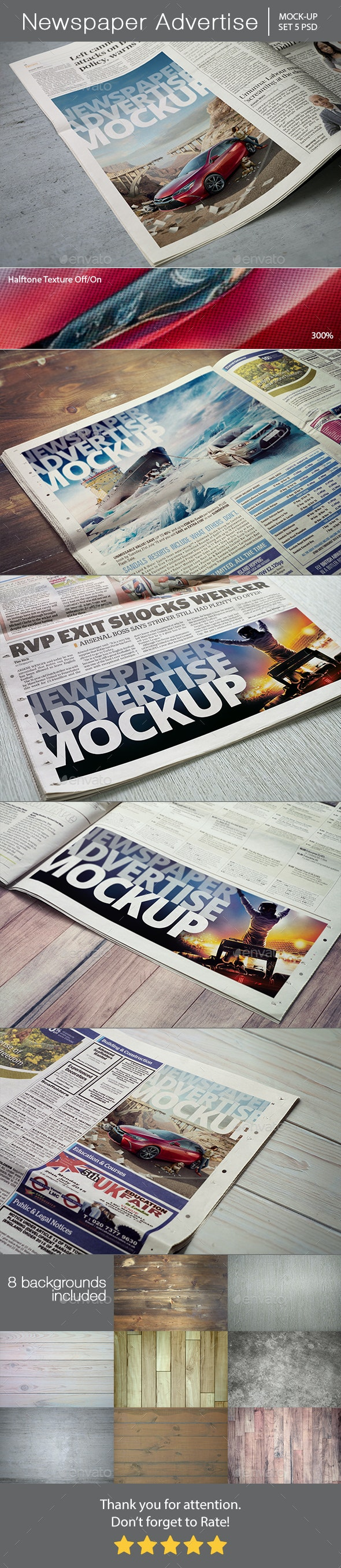 Newspaper Advertise Mockup - Miscellaneous Print