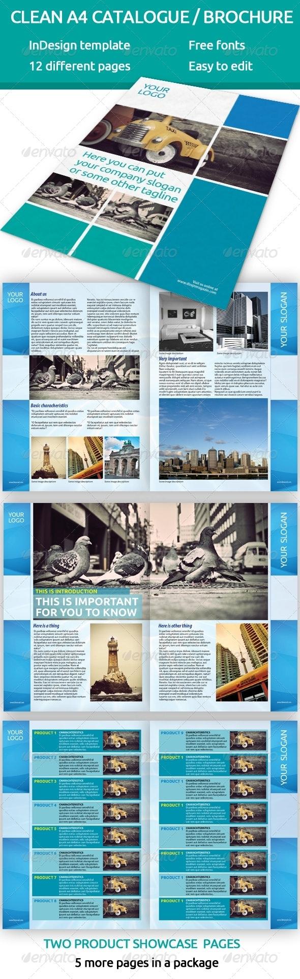 Catalogue - brochure A4 InDesign template - Portfolio Brochures