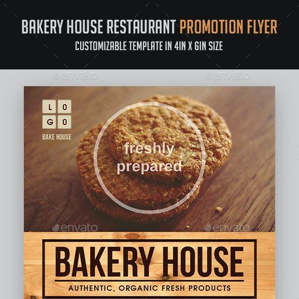 Bakery House Restaurant Promotion Flyer