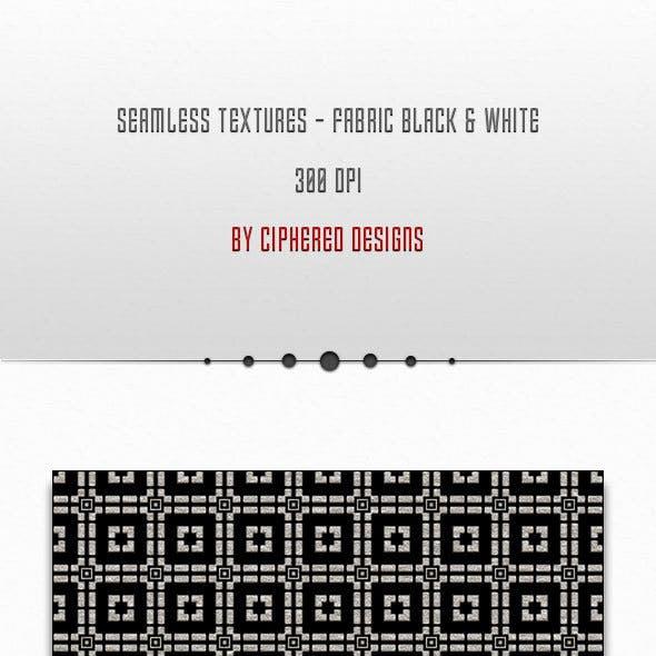 Seamless Textures - Fabric Black & White