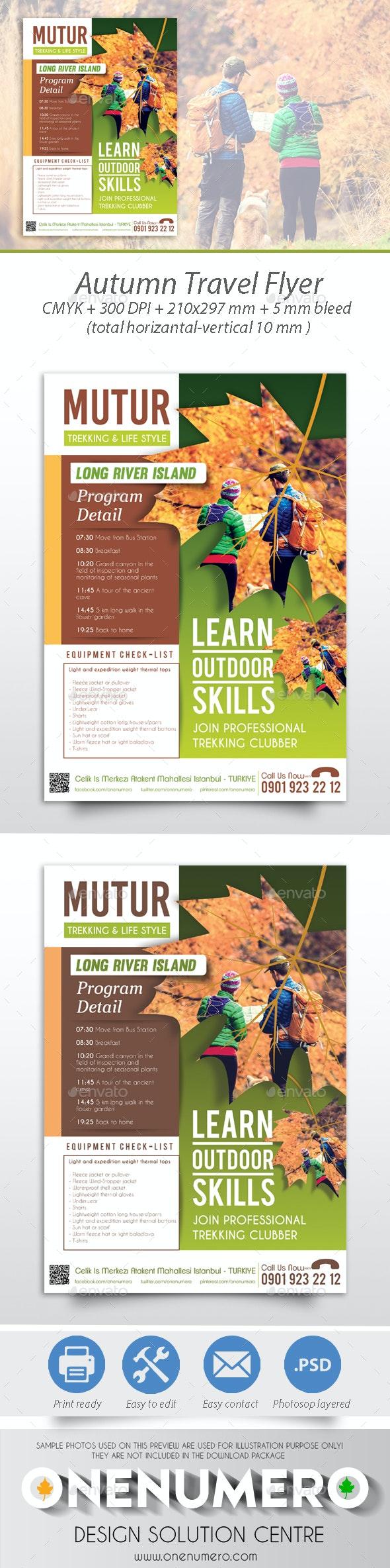 Autumn Travel Flyer - Corporate Flyers