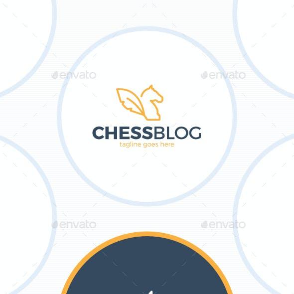 Chess Blog Logo - Line Horse