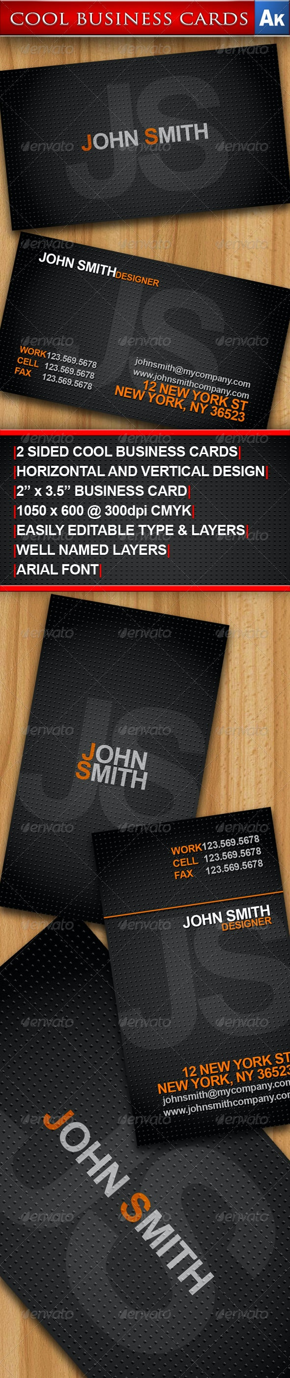 Cool Business Cards - Horizontal and Vertical - Creative Business Cards