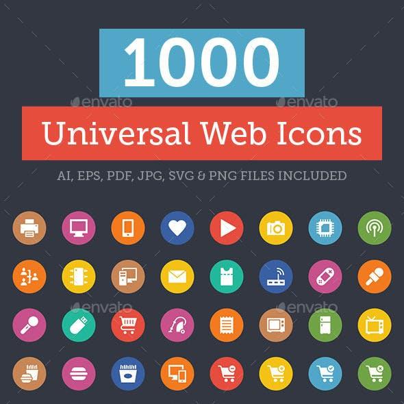 1000+ Universal Web Icons