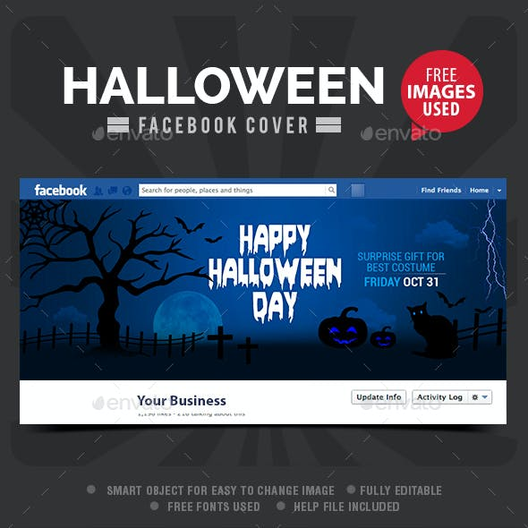 Halloween Day Facebook Cover