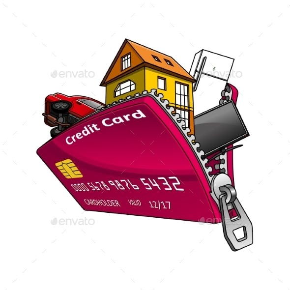 Goods Inside Credit Card With Zipper