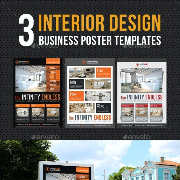 3 in 1 Interior Design Poster Bundle V02