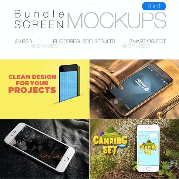 iPhone Screen Mockup Bundle
