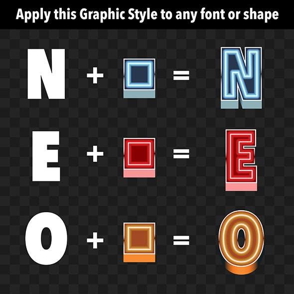 3D Neon Graphic Styles