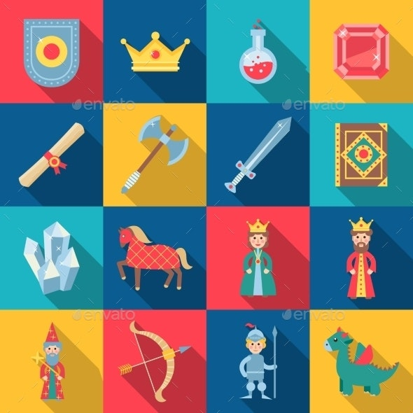 Fairytale Game Set - Miscellaneous Icons