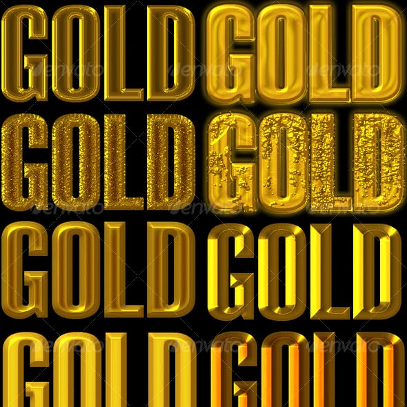 Golden Layer Style for Adobe Photoshop