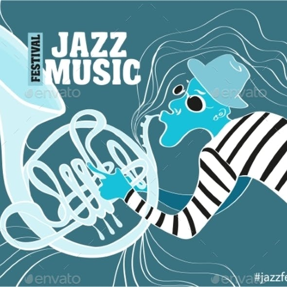 Illustration Of a Jazz Poster