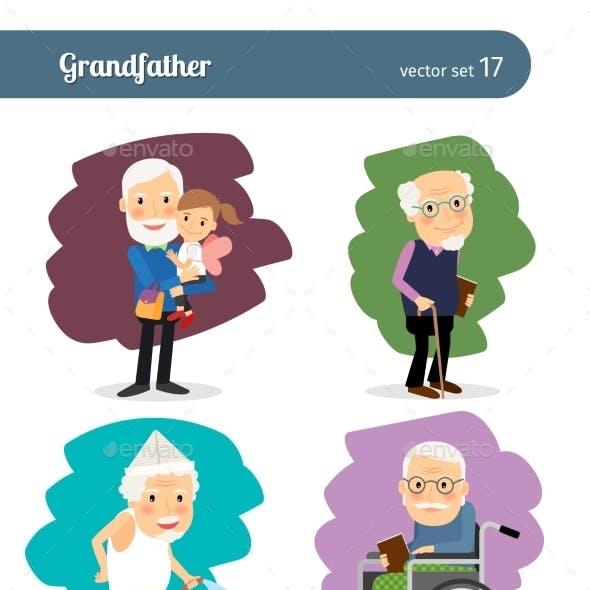 Grandfather Cartoon Character