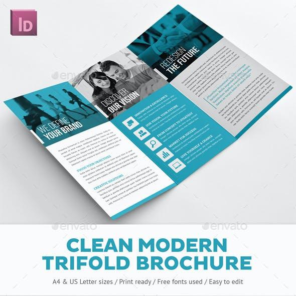 Clean Modern Trifold Brochure