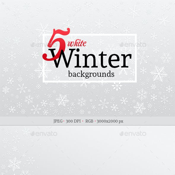 5 White Winter Backgrounds