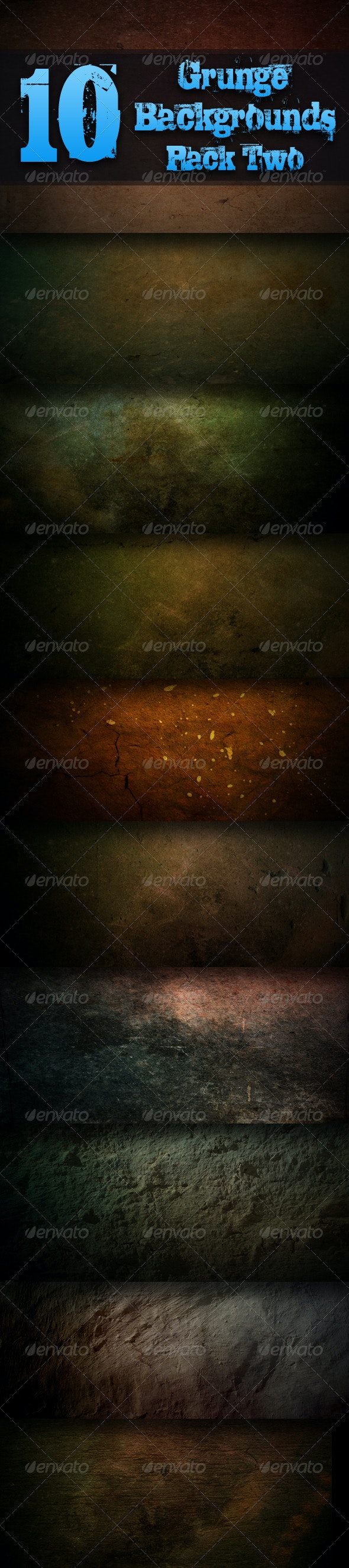 10 Grunge Background Textures - Pack Two - Industrial / Grunge Textures