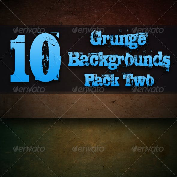 10 Grunge Background Textures - Pack Two