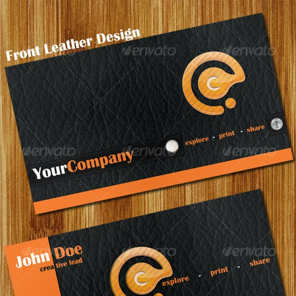 10 Colors (Leather + Fiber) 2 Business Cards