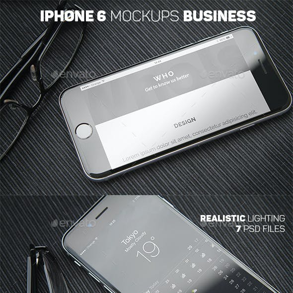 iPhone 6 Closeup Mockups Business