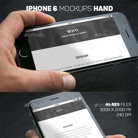 iPhone 6 Closeup Mockups Hand