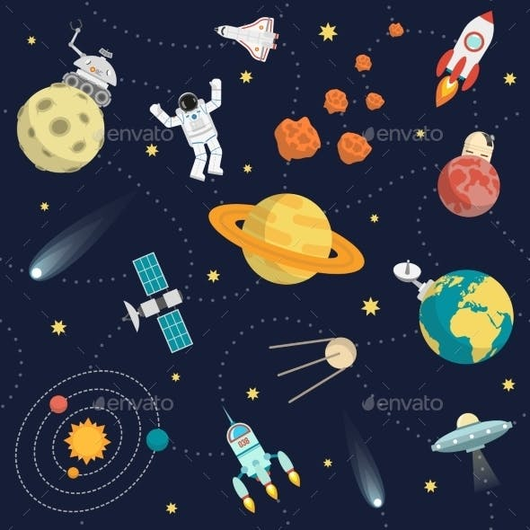 Space Background Flat