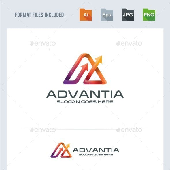 Advance - A Letter - Arrow Logo Template