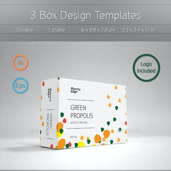 3 Box Design Templates