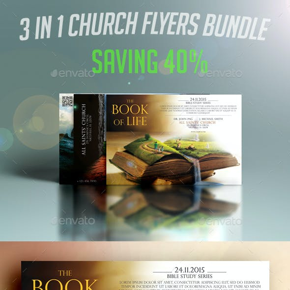 3 in 1 Church Flyers Bundle