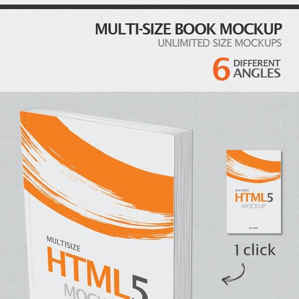 Multi-Size Book Mockup