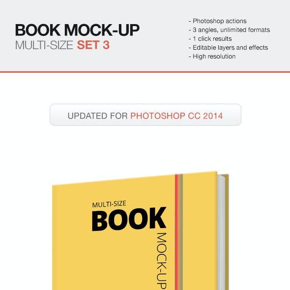 Multi-size Book Mockup - Set 3