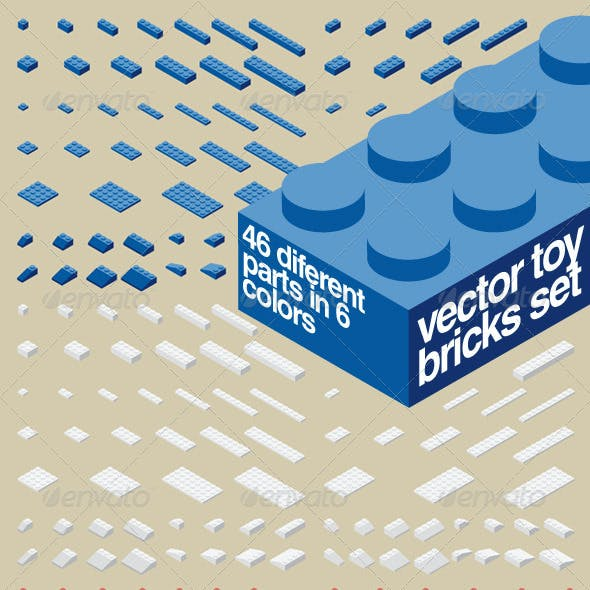 Vector Toy Bricks Set